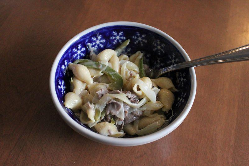 09 - New recipe - Phili Cheesesteak Mac and Cheese - 10JAN14