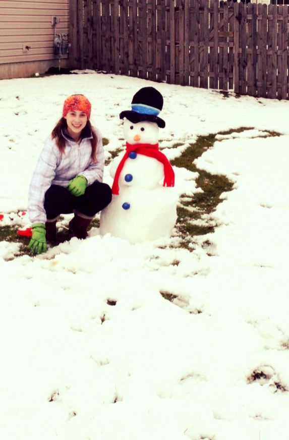 she built a snowman